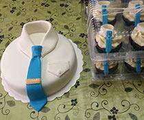 Pastel y cupcakes dia del padre
